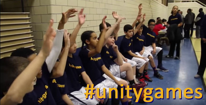 St. John's fifth grade basketball team exemplifies empathy by choosing unity #unitygames