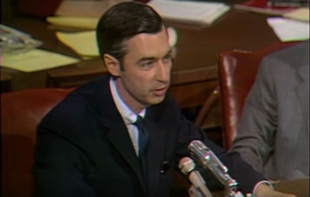 Mister Rogers testifies in a Congressional hearing in 1969 about PBS funding
