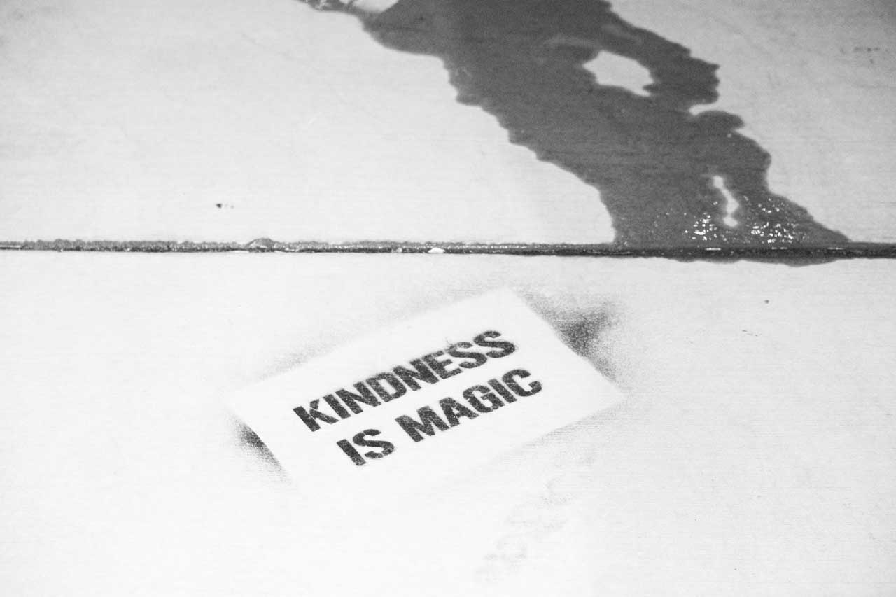 "Kindness is magic sign reminds us how easy it can be to have a good response when someone asks you, ""Make My Day"""