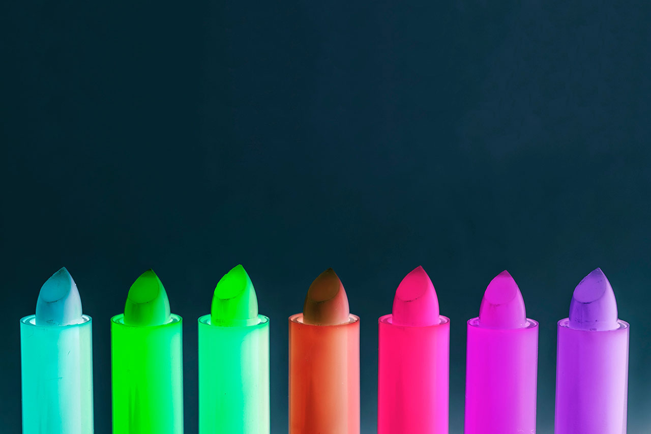 Business transparency shines light, like that on colorful neon lipstick tubes, on harmful chemicals in cosmetics
